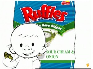 I don't think the Ruffles baby spoke spanish mom.