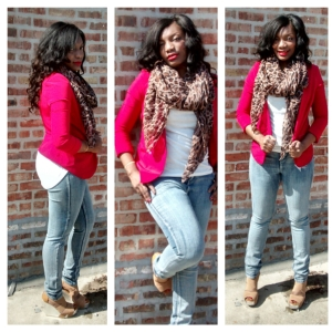 Blazer Zara Jeans Wet Seal Scarf A'gaci Shoes Justfab