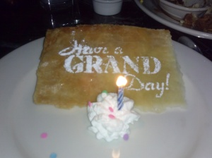 Happy birthday to me. My family started to sing and then the whole dining area started to sing....smh