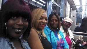 All of us. My ride or dies. My everything. My niece, myself, my sis, and my mommy.
